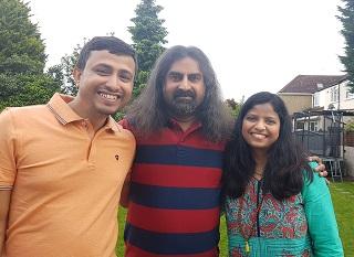 Harish and Subhasree with Mohanji