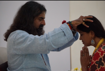 Mohanji giving Shaktipat to Sreeja