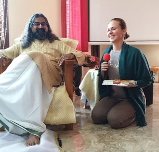 Monika with Mohanji