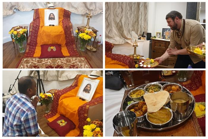 United Kingdom 2- Mohanji - birthday celebration, aarati, offering