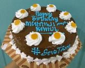 Vegan cake - Happy birthday Mohanji and Rahul - by Mata Ji