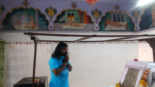 Mohanji Chronicles - Back from the dead – A tryst with Swami Samarth of Akkalkot - Mohanji offering prayers to padukas 2.jpg