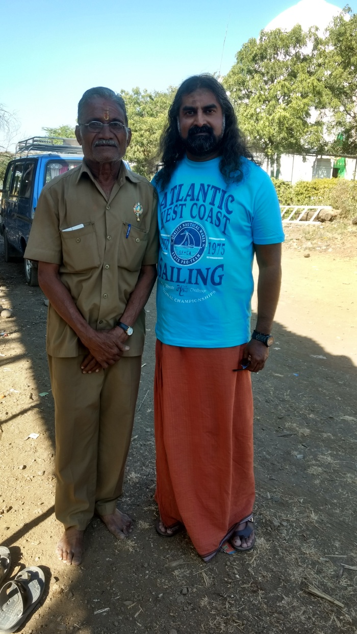 Mohanji Chronicles - Back from the dead – A tryst with Swami Samarth of Akkalkot - Mohanji with security guard.jpg