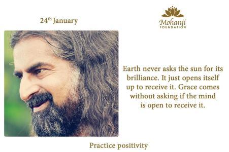 Mohanji practising Positivity