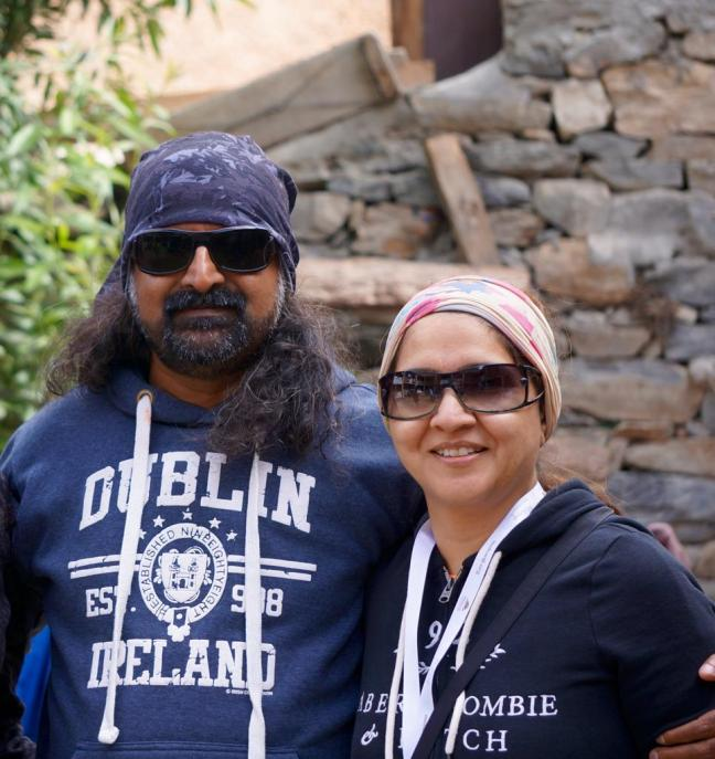 mohanji with Tina