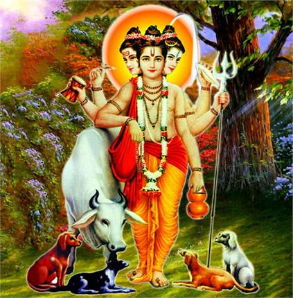 datta with his messengers