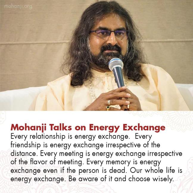 Mohanji on energy