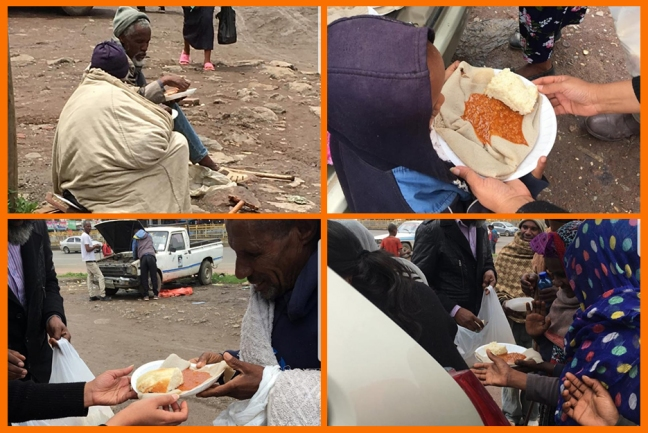 Ethiopia - Guru Purnima 2019 - feeding the hungry
