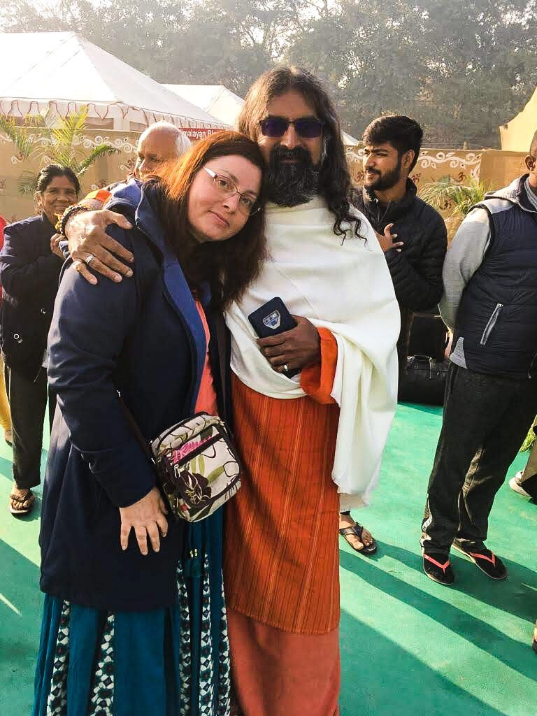 Ulla with Mohanji