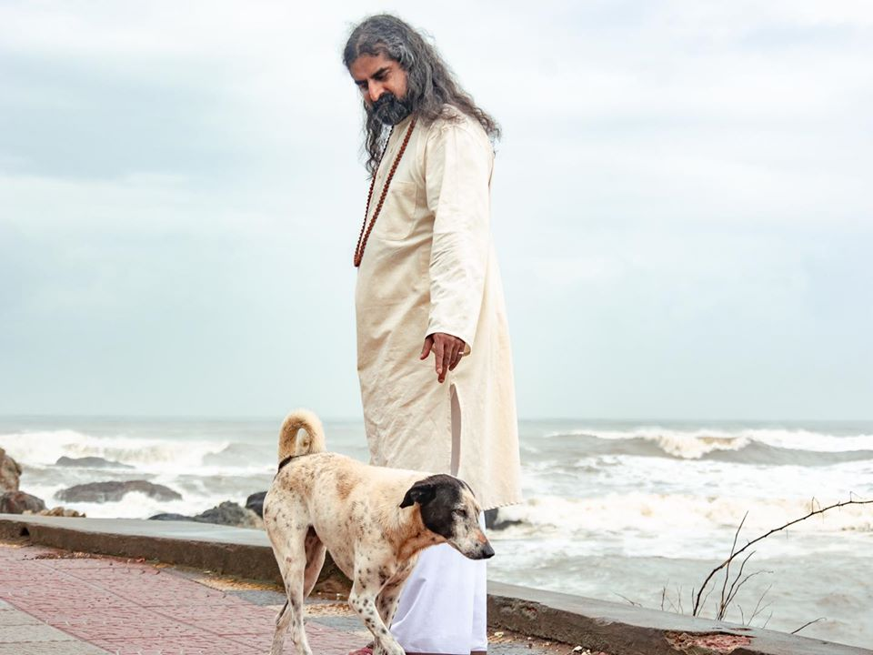 mohanji with dog