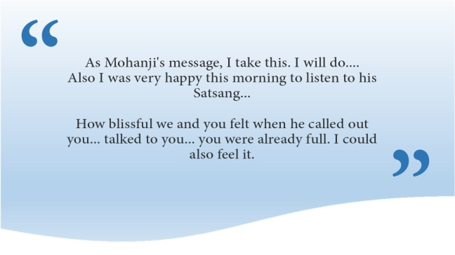 Satsang with Mohanji 16 Aug- practical steps in challenging times-comments (1)